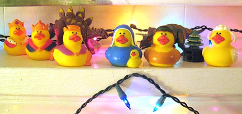 A Rubber Duck Nativity Set