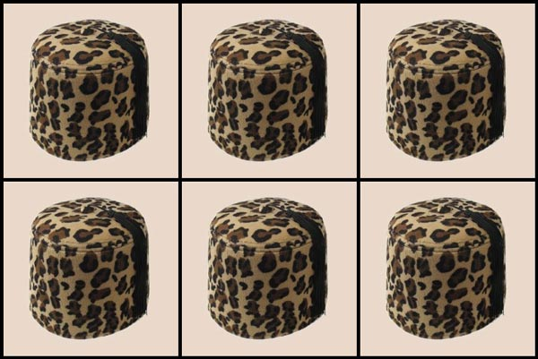 Six Leopard Fezzes