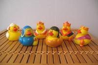 Rubber duck Nativity scene