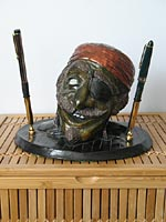 Old Gus pirate pencil holder