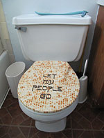 """Let My People Go"" toilet seat cover"