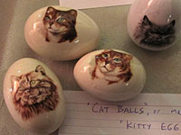 Cat Balls, or Kitty Eggs