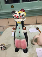 Two-headed clown decanter